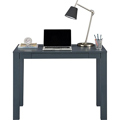Ameriwood Home Delilah Parsons Desk With Drawer Gray