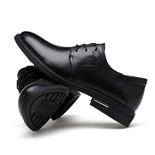 di d'affari rotonda shoes Nero Pelle classico Scarpe 40 casual Uomo Scarpe semplice scarpe EU Dimensione uomo Nero stile Color da da nuove Jiuyue punta 2018 uomo XwaXqP
