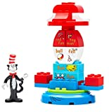 Mega Bloks Dr. Seuss The Cat in The Hat Carousel Building Set (24 Piece), Multicolor