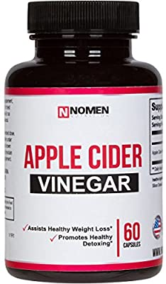 Apple Cider Vinegar Capsules - Natural Appetite Suppressant for Weight Loss, Digestion, Detox & Diet Cleanse - 60 Extra Strength Organic Pills