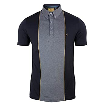 Gabicci Vintage Polo camiseta para hombre carbón Top con central ...