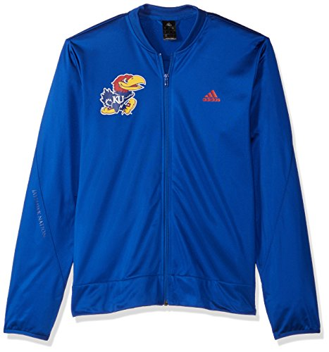 Court Mens Jacket - adidas NCAA Kansas Jayhawks Mens On Court Warm-Up Jacketon Court Warm-Up Jacket, Collegiate Royal, Medium