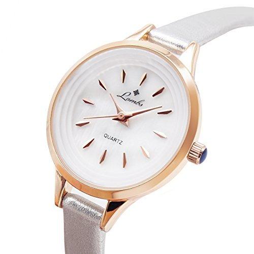 Reloj para Niñas, Relojes de Pulsera de Cuarzo Impermeables Casuales para Mujer con Cómoda Correa