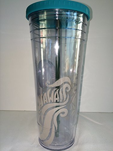 Starbucks Hawaii 2014 Clear Coffee Tumbler Cold Cup 24 Oz. Venti by Starbucks by Starbucks