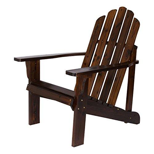(Shine Company Inc. 4618BB Marina Adirondack Chair, Burnt Brown)