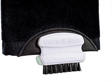 La toalla de golf más conveniente en el mundo que le ayuda a retener su máximo de giro y control. Juegue un tiro, utilice el cepillo para quitar la suciedad ...