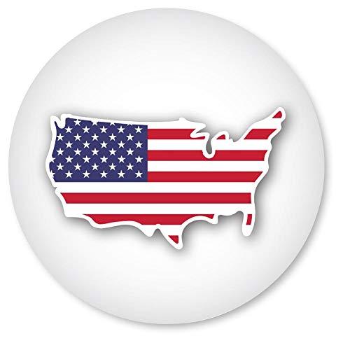 (USA Flag Seals, 1 1/4 Inch, Patriotic Envelope Seals, Self-Adhesive, 140 Count)