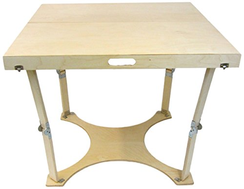 Spiderlegs Folding Dining Table, 36-Inch, Natural Birch