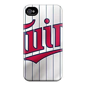 High Impact Dirt/shock Proof Case Cover For Iphone 4/4s (minnesota Twins)