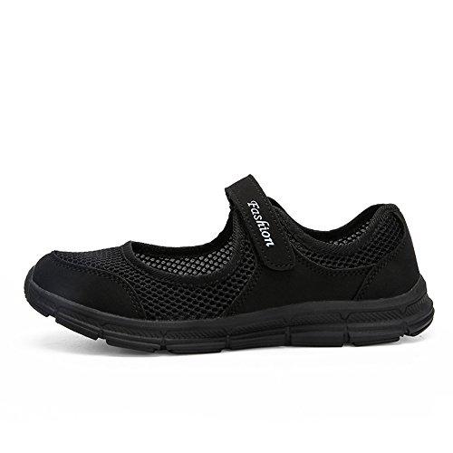 Zapatos de Gris de Zapatos 35 Gimnasia Running Zapatillas Verano Negro Ligero 7da54c