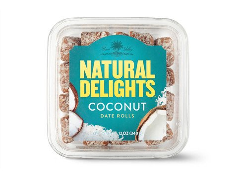 Bard Valley Natural Delights Kosher Raw Coconut Date Rolls - 12 oz.