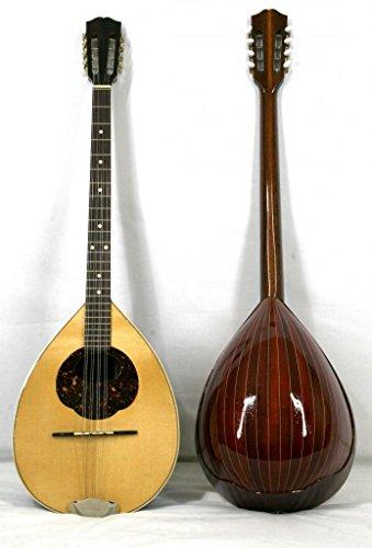 Musikalia Liuteria Griechische Bouzouki mit Padouk-Holz, eingelegter Korpus im Konzert Model Lefthand-Version mit Hardcase aus Acrylnitril-Butadien-Styrol.