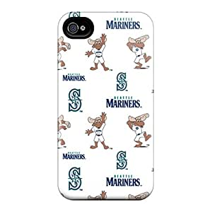 Tpu SpecialUandMe Shockproof Scratcheproof Seattle Mariners Hard Case Cover For Iphone 4/4s
