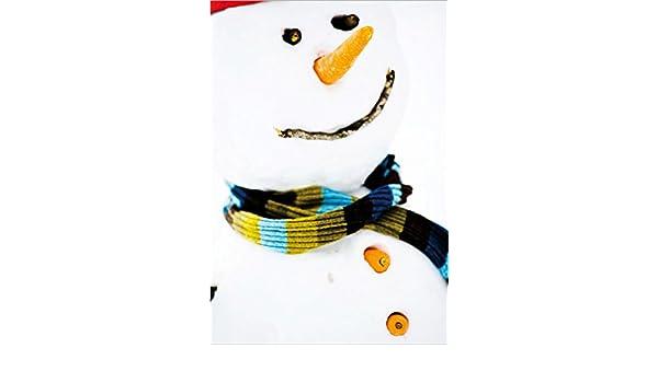 Bonito Hombres de Nieve tarjeta de felicitación para Navidad deseos, Juego con sobres, B6 - Porto libre posible, personalizable, formato vertical 12,5 x 18 ...