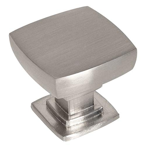 - 25 Pack - Cosmas 5232SN Satin Nickel Contemporary Square Cabinet Knob