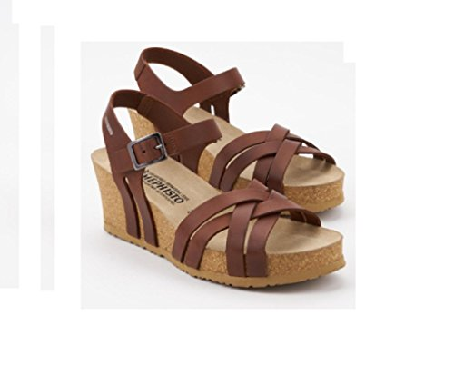 MEPHISTO scarpe SANDALO DONNA LANNY SCRATCH 3478 CHESTNUT PE17