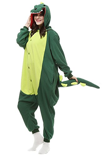 Adult Dinosaur Animal Pajamas One Piece Cosplay Halloween Xmas Costume Sleepwear