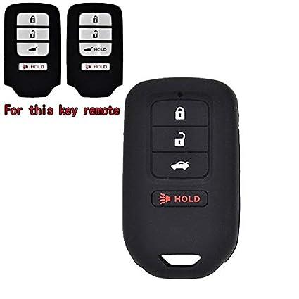 1x Silicone 4 Button Key Fob Cover Case For Honda Accord Civic CRV CRZ HRV Pilot