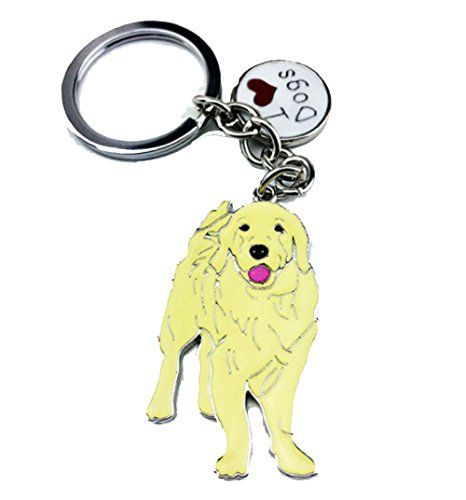 (Yellow Enamel Labrador Retriever Dog Key Chain.Ready to Play a Ball in her Mouth.Cute & Comical Gift The Labrador Mom:)