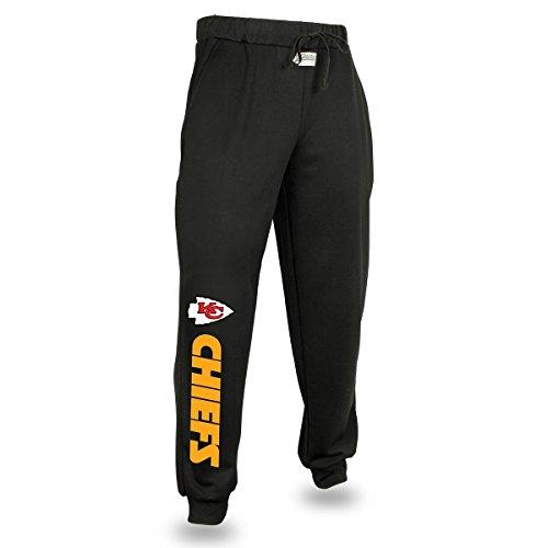 (Zubaz NFL Kansas City Chiefs Men's Solid Team Logo Jogger Pants, X-Large,)