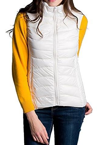 HengJia Women's Packable Down Vest Lightweight Leopard-Print Puffer Vest X-Small - Hi Loft Fleece Jacket