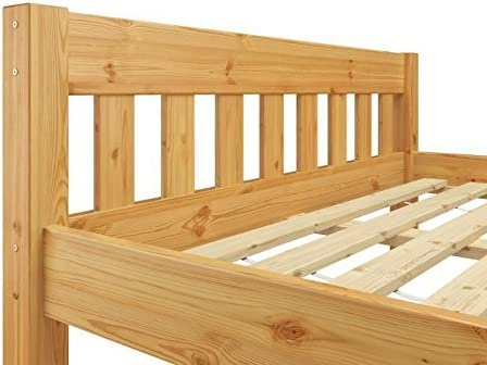 lit Enfant Erst-Holz Lit Simple Style Contemporain pin Massif Naturel 90x190 y Compris sommier 60.38-09-190