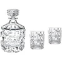 Nachtmann Punk Whisky & Decanter Set, 26.4 x 25 x 14.1 cm, Clear, 3