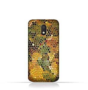 Motorola Moto E3 TPU Silicone Case With Stained Glass Art Design