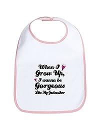 CafePress - Gorgeous Like My Godmother Bib - Cute Cloth Baby Bib, Toddler Bib