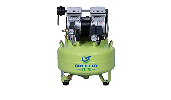 First Dental 600W tipo pistón silencioso silencioso compresor de aire portátil sin aceite GA-61: Amazon.es: Bricolaje y herramientas