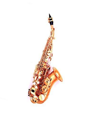 Talljo Curved-neck Brass B Flat Soprano Saxophone for (Christmas Soprano Saxophone)