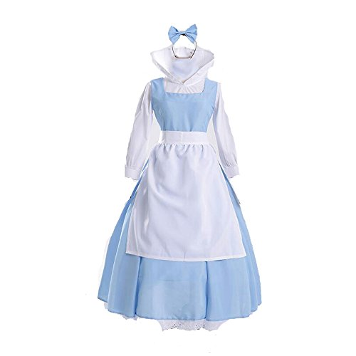Cos store Blue Belle Costumes Beauty Beast Costume Halloween Costumes Women (L) -