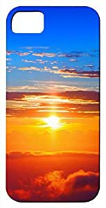 Generic Awesome Sunset Blue Orange Red Nature Landscape Hard Case for iPhone 5s