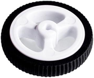 D-hole Rubber Wheel Suitable for N20 Motor D Shaft Tire Car Robot DIY Toys Parts