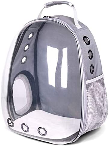 Qsfdhifdr Cat Bag out Cage, Portable Space Cat Cabin, Portable Bag Large Transparent Backpack, Pet Wilderness Backpacking Hiking: Amazon.es: Productos para mascotas