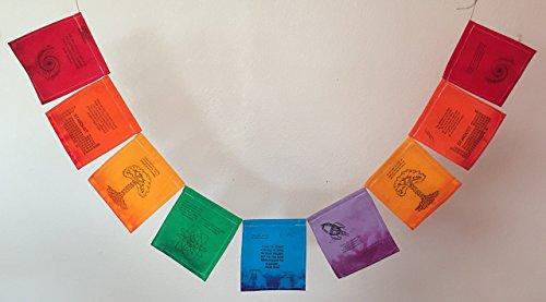 Science Prayer Flag, honoring Carl Sagan. An 'Atheist' Prayer Flag of sublime beauty!