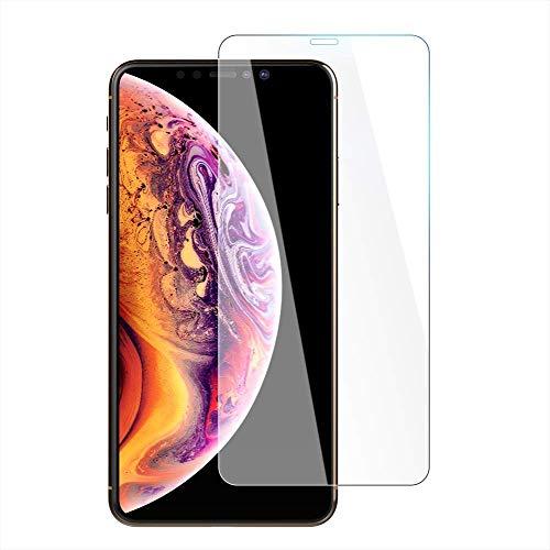 iPhone XS Max 液晶保護フィルム iPhonexs max ガラスフイルム 強化ガラス アイホン アイフォン フイルム 最大硬度9H/高透過率/自動吸着/指紋保護/飛散防止【OKB 8-5】