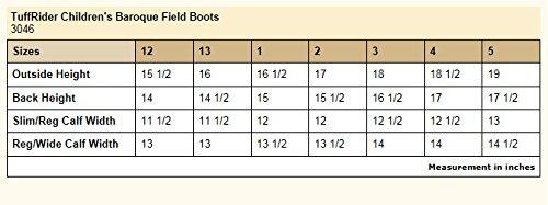 TuffRider Children's Baroque Field Boots, Black, 12 Slim Regular by TuffRider (Image #3)
