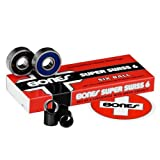 Bones Super Swiss 6 Bearings - 8mm 16 Pack - Derby Skate Bearings