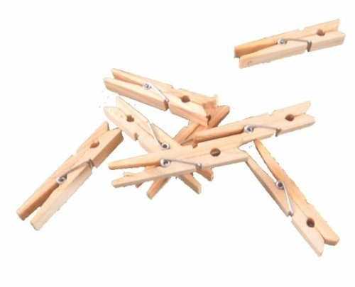 Innovative Home Creations 50 Wood Clothespins- Pack of 5