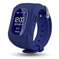 REES52 GPS Tracker SOS Smart Watch Support Micro SIM and Voice Chatting, Remote Monitoring (Dark Blue)