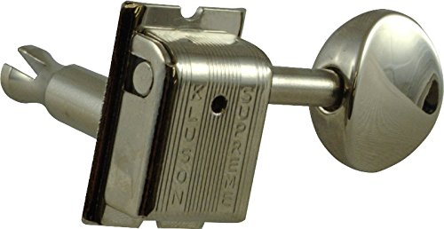Tuning Machine - Kluson Supreme, Oval Buttons, 6/Line, Nickel