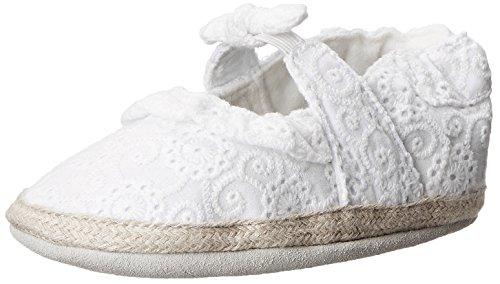 Robeez Sunshine Espadrille Flat (Infant), White, 18-24 Months M US Infant