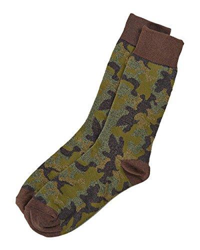 Cotton Blend Trouser Socks - Lucky Brand - Men's - Camo Print Cotton Blend Trouser Socks (10-13, Green/Multi Camouflage)