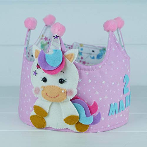 Corona Cumpleaños Unicornio: Amazon.es: Handmade