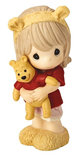 Girl Bear Figurine - Precious Moments 169017 Disney Showcase Hunny There's Nobody Sweeter Than You Winnie Bisque Porcelain Figurine, Pooh-Girl