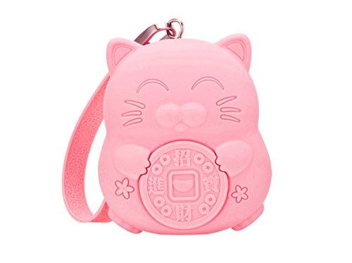 Meta U Squishy Coin Purse   Quality Silicone   Cute Kawaii Lucky Cat   Large Capacity  Flesh Pink