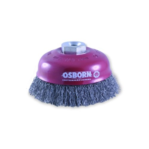 Honing Brush Cup Brush for Angle Grinder 150 MM Cup D80 MM Thread M14 x 2.0 MM Steel Crimped Wire 0, 30 MM TÜ V-Tested Red 2613163 30 MM TÜV-Tested Red 2613163 Osborn