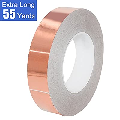 Copper Foil Tape with Conductive Adhesive EMI Shielding Stained Glass Soldering Electrical Repairs Slug&Snail Repellent Paper Circuits Grounding Crafts Projects Guitar GREEN BIRD