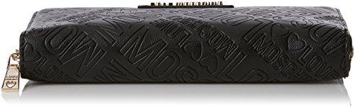 Love Moschino Damen Portafogli Embossed Pu Nero Clutch, schwarz (Black), 3 x 10 x 20 cm
